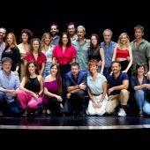 Antonio Banderas durante la presentación del musical Company en el Teatro del Soho