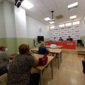 CC.OO. se ha reunido esta mañana con jubilados y pensionistas para atender sus demandas.