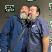 Mariano Bartolomé y Dani Latorre son dos cómicos veteranos y, a pesar de esta foto, personas muy inteligentes
