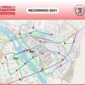 Estos son los cortes de tráfico por la media maratón de Mérida