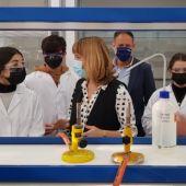 La ministra de Educación, Pilar Alegría, ha visitado el CPIFP Corona de Aragón