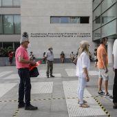 Entrada a los juzgados de València.