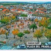 """Pintura """"Plaza del Pradillo"""" de Damián Cano, Viso del Marqués"""