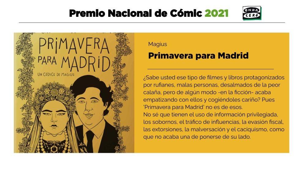 Primavera para Madrid de Magius, Premio Nacional de Cómic 2021