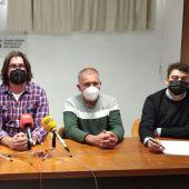 Solanilla junto con otros representantes agrarios que participarán en la manifestación de Zaragoza.