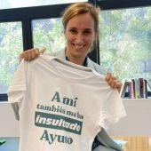 """Más Madrid saca la camiseta con el lema, """"A mí también me ha insultado Ayuso"""", para """"denunciar"""" los insultos de Ayuso"""