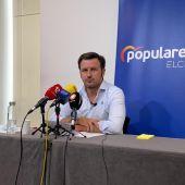 Pablo Ruz, portavoz del PP en el Ayuntamiento de Elche.