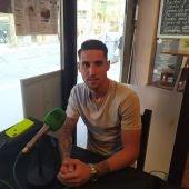 Raúl González, jugador del Hércules, en el restaurante Caruso.