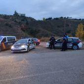 Control policial en las inmediaciones de Fuentecerrada
