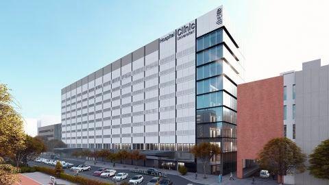 Recreación del futuro Hospital Clínico de València