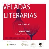 Cartel anunciador de las Veladas con Manuel Vilas