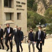El ministro del Interior, a su llegada al Teatro Auditorio de Cuenca