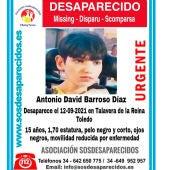 El menor desaparecido Antonio David Barroso Díaz