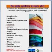 La Plataforma Pro-Refugiados recoge ropa y material escolar