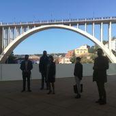 Vistas al Viaducto desde la terraza de la futura cafetería del centro