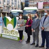 Presentación de los 3 nuevos autobuses en la Plaza Mayor de Ciudad Real