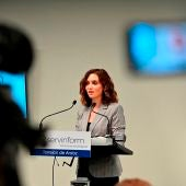 La presidenta de la Comunidad de Madrid, Isabel Díaz Ayuso, durante un acto en Torrejón de Ardoz