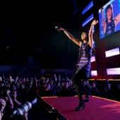 Eva Amaral durante el concierto que ofreció el dúo zaragozano en Madrid.