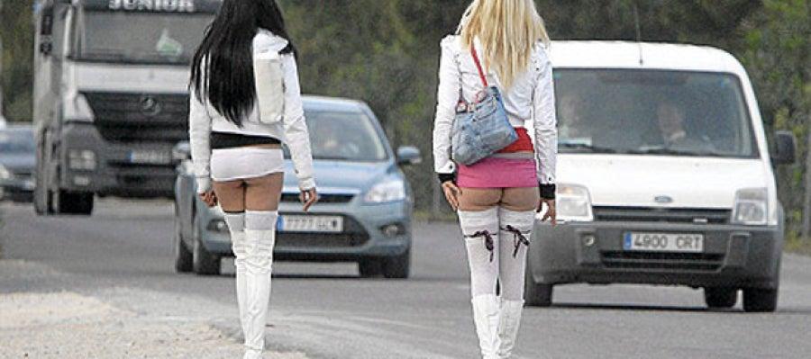 Prostitutas en una carretera de Málaga
