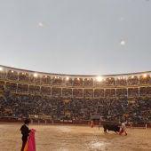 Plaza de Las Ventas en dia de lluvia