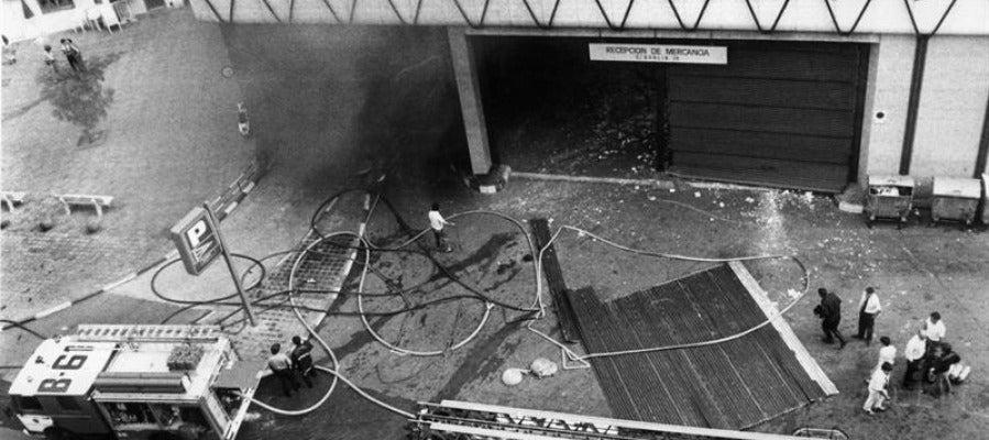 Imagen del atentado en el Hipercor de Barcelona