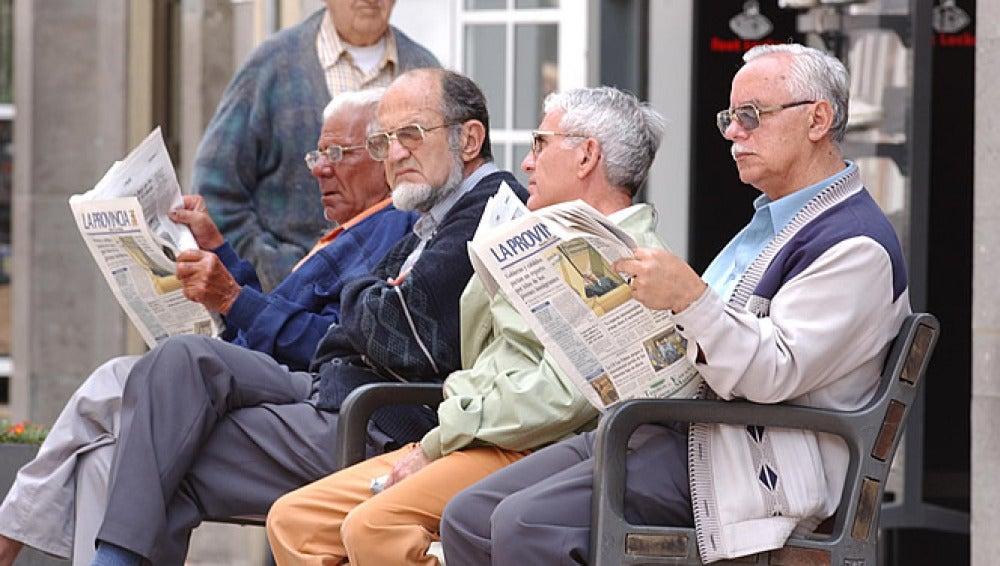 Un grupo de pensionistas
