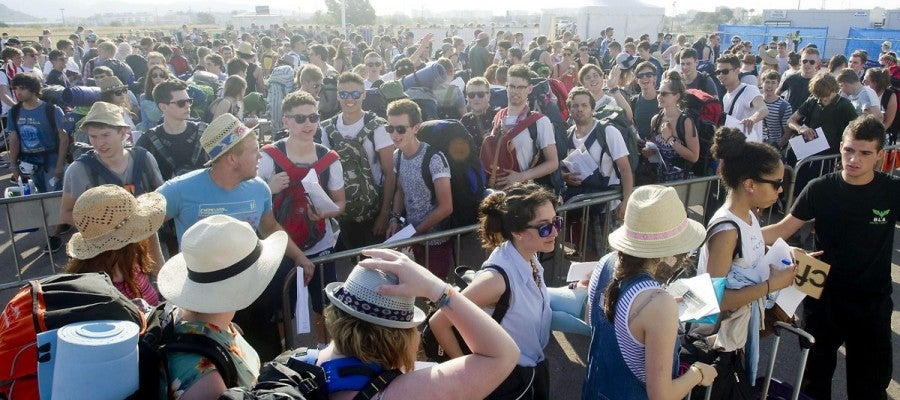 Fibers llegando al festival