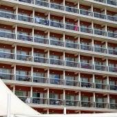 Fachada del hotel Obelisco de la Playa de Palma