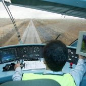 Maquinista de tren de alta velocidad