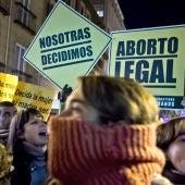 Protesta en Madrid contra la reforma del aborto
