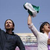 Pablo Iglesias y Teresa Rodríguez en Málaga