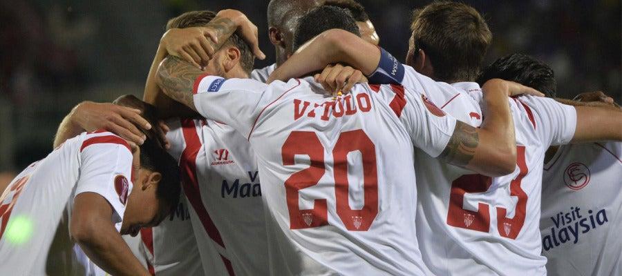 El Sevilla celebra el pase a la final de la Europa League