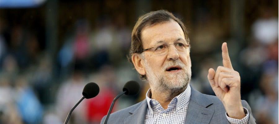 Mariano Rajoy durante un mitin
