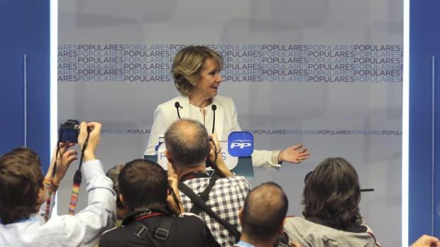 """Esperanza Aguirre: """" Seguiré representándoles desde el lugar en el que me han puesto los madrileños """""""