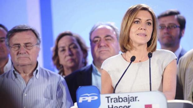 """María Dolores Cospedal: """"Somos el partido que ha ganado las elecciones"""""""