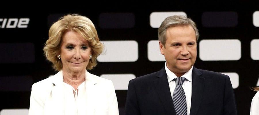 Esperanza Aguirre y Antonio Miguel Carmona