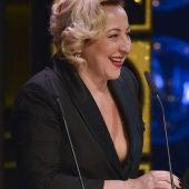 Carmen Machi recogiendo su premio Goya