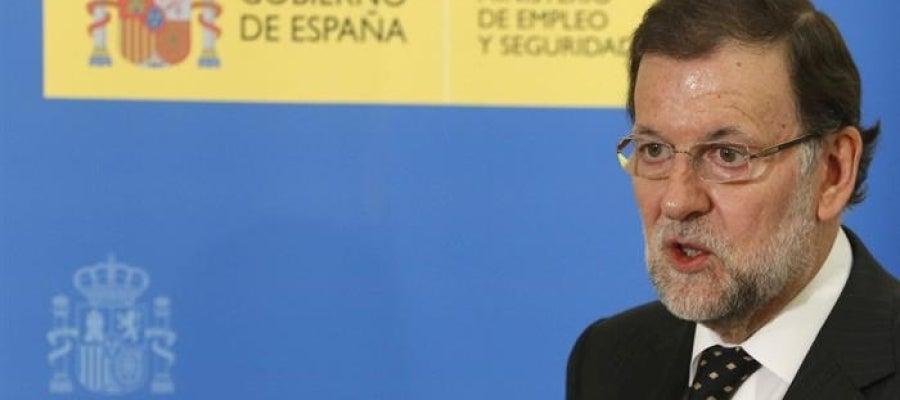 El presidente del Gobierno, Mariano Rajoy, valora los datos del paro