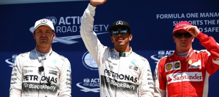 Hamilton logra la pole de Canadá por delante de Rosberg con Alonso 13º y Sainz 11º