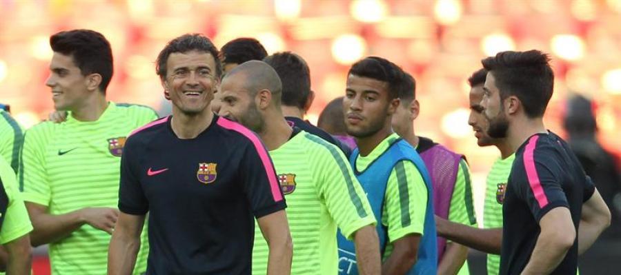 Entrenamiento del F.C. Barcelona