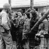 Grupo de mujeres en Mauthausen