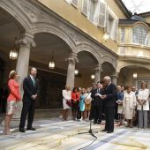 Los Reyes Felipe VI y Letizia en el Palacio del Pardo