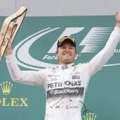 Rosberg celebra el triunfo en Austria