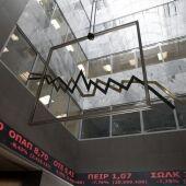 Recepción del edificio de la Bolsa de Atenas