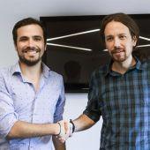 Alberto Garzón y Pablo Iglesias