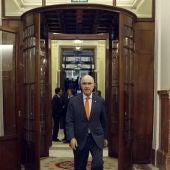 Durán i Lleida en los pasillos del Congreso