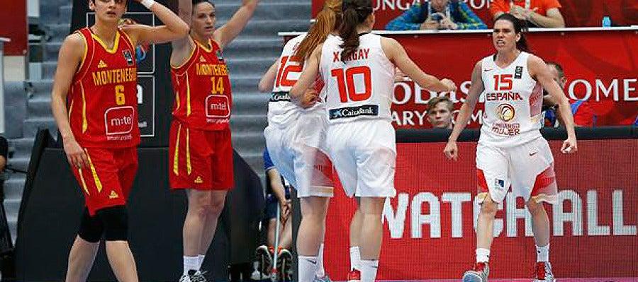 España logra la victoria ante Montenegro