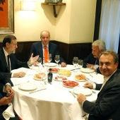 Cena del Rey con los expresidentes del Gobierno