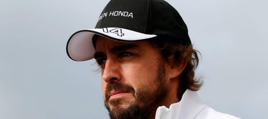 Fernando Alonso en el GP de Gran Breataña