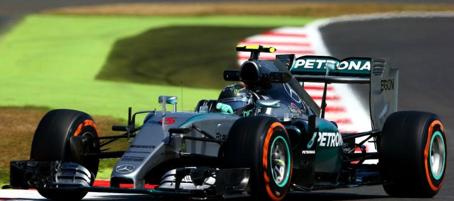 Nico Rosberg en Silverstone